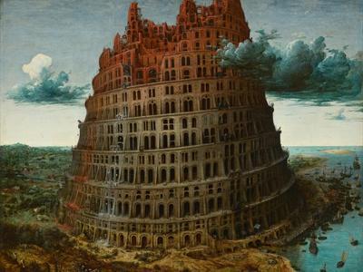 Pieter Bruegel Tower of Babel SINGLE CANVAS WALL ART Print