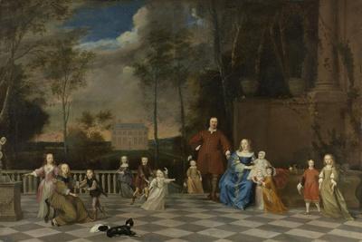 Amsterdam Merchant Jeremias Van Collen with His Wife and their Twelve Children