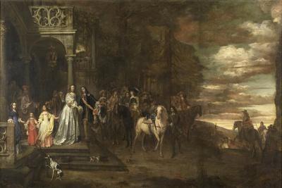 Leavetaking of Captain Hendrik De Sandra, Sent Off by His Wife and Children