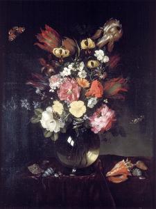 Vase and Flowers, 1655 by Pieter van de Venne