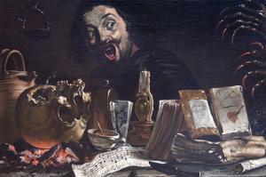 Magic Scene with Self Portrait by Pieter Van Laer