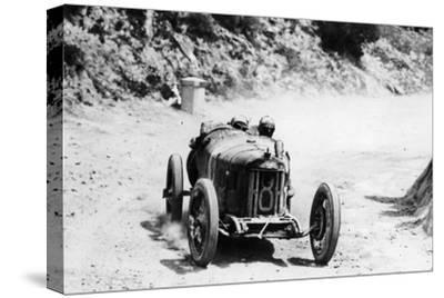 Pietro Bordino in a Fiat 803, in the Targa Florio Race, Sicily, 1924