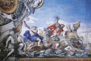 Aeneas Arrives at Mouth of Tiber, Detail from Stories of Aeneas by Pietro da Cortona