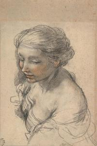 Bust of a Young Woman Turned to the Left, 1637 by Pietro da Cortona