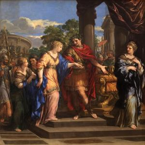 Caesar Giving Cleopatra the Throne of Egypt, C.1637 by Pietro da Cortona