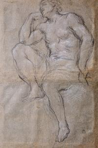 Drawing of Young Man for Hall of Apollo by Pietro da Cortona