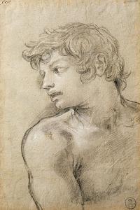 Figure of Young Man Study for Golden Age by Pietro da Cortona