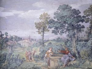 Jesus and Samaritan Woman at Well by Pietro da Cortona