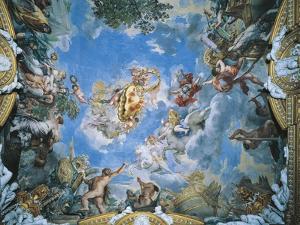 Large Medici Coat of Arms and Mars Setting War Ablaze with Lightning by Pietro da Cortona