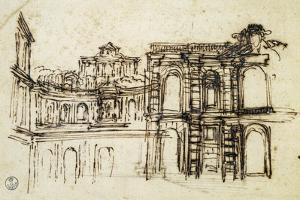 Study for Theatre in Palazzo Pitti in Florence by Pietro da Cortona