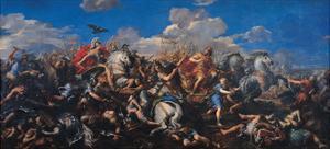 The Battle of Alexander Versus Darius, 1644-1655 by Pietro da Cortona