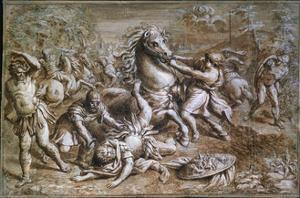 The Conversion of Saint Paul', 17th century by Pietro da Cortona