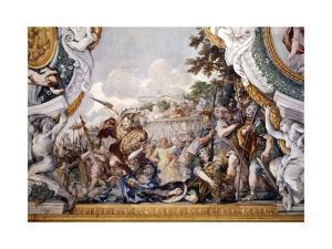The Tragic Death of Turnus, Detail from Stories of Aeneas by Pietro da Cortona