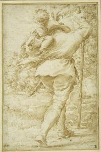 St. Christopher Ferrying the Christ Child by Pietro Faccini