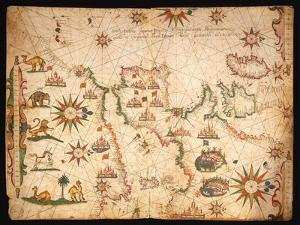 The Atlantic Coasts of Europe and the Western Mediterranean, from a Nautical Atlas, 1651 by Pietro Giovanni Prunes