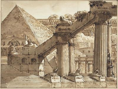 Egyptian Stage Design, 1800-10 by Pietro Gonzaga