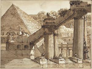 Egyptian Stage Design, 1800-10 by Pietro Gonzaga
