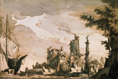 Sea Harbor, Stage Design for a Theatre Play, 1818