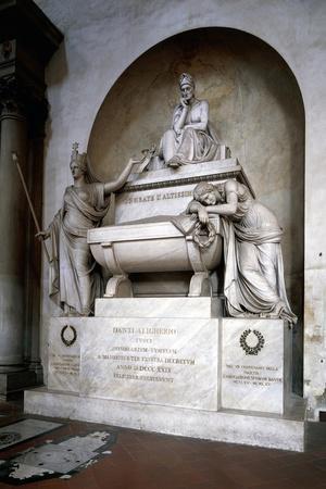 Cenotaph to Dante Alighieri, Sculpture