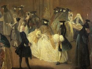 Casino (Il Ridott), Second Half of the 18th C by Pietro Longhi