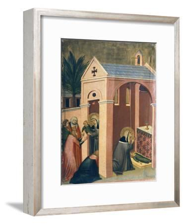 Blessed Resuscitates Son of Gentleman, Tile from Altarpiece of Blessed Humility