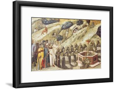Carmelites Praying, Detail from Dais of Carmine Altarpiece