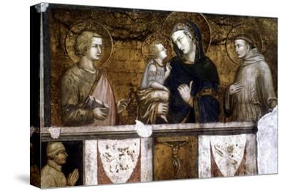 Madonna and Child Between St Francis and St John the Evangelist, C1320S