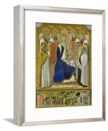 The Carmine Altarpiece, central panel depicting the Virgin and Child with angels, St. Nicholas and