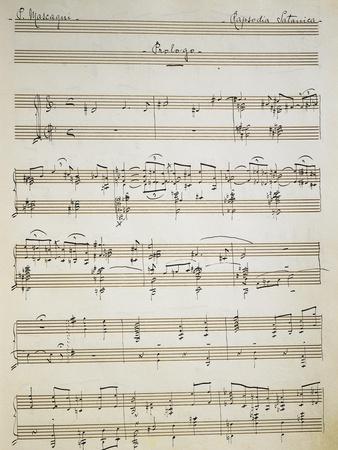 Handwritten Score of Prologue of Satanic Rhapsody