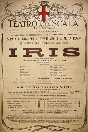 Playbill for Opera Iris