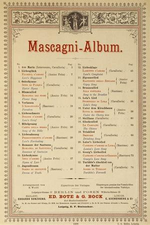 Title Page of Album of Compositions