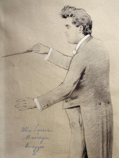 Pietro Mascagni--Giclee Print