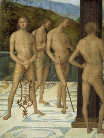 A Fragment: Four Male Nude Figures, C.1505