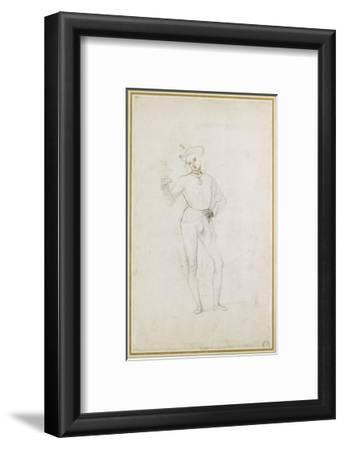 A Study for a Figure in an Adoration of the Magi (Black Chalk with Pen and Brown Ink on White Paper