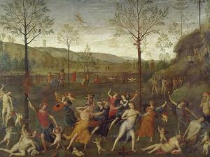 Combat of Love and Chastity by Pietro Perugino