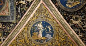Frescoes on the Ceiling by Pietro Perugino