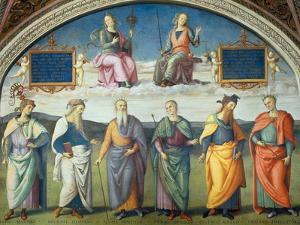 Lunette with Power and Justice by Pietro Perugino