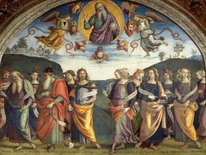 Lunette with Sibyls and Prophets by Pietro Perugino