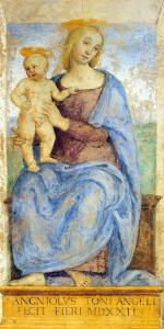 Madonna and Child Enthroned by Pietro Perugino