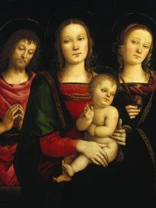 Madonna and Child with Saints John the Baptist and Catherine of Alexandria by Pietro Perugino
