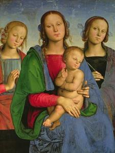 Madonna and Child with St. Catherine and St. Rosa, 1493 by Pietro Perugino