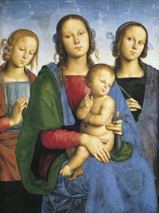 Madonna and Child with St by Pietro Perugino