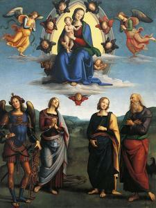 Madonna in Glory, Ca 1500-1501 by Pietro Perugino