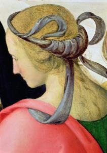 Marriage of the Virgin, Detail Showing One of the Virgin's Companions, 1500-04 by Pietro Perugino