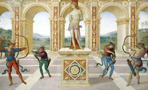 Martyrdom of Saint Sebastian by Pietro Perugino
