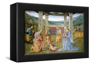 Niche with Annunciation, Christ in Glory and Nativity by Pietro Perugino
