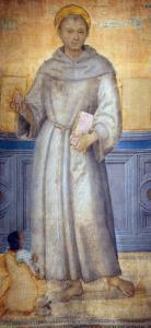 Saint Anthony of Padua and a Devotee by Pietro Perugino