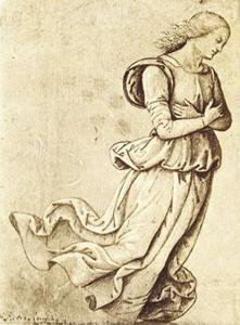 Sepia Woman Dancing by Pietro Perugino