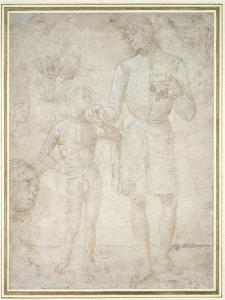 Studies for Tobias and the Angel by Pietro Perugino