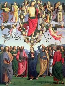 The Ascension of Christ, 1495-98 (Oil on Panel) by Pietro Perugino